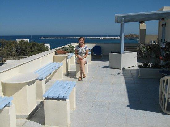 Hotel Kymata: terrace
