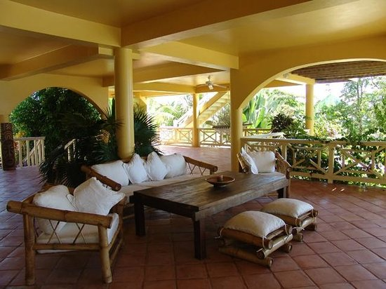 Casa Del Sol: Loggia downstairs view on sea and pool