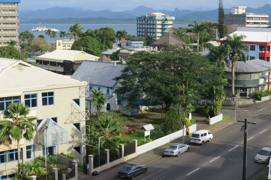 Tanoa Plaza Suva : View from a fifth floor room