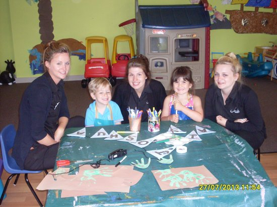 Sands Resort Hotel & Spa: With the girls at kids club