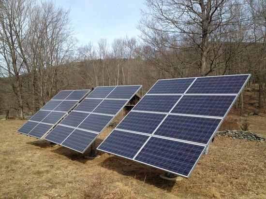 Retreat at TreeGap : The solar panels Megan uses as eco-friendly alternative