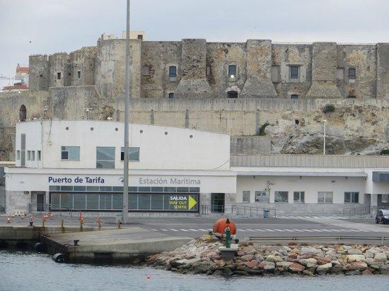 Hostal Alborada: Ferry terminal & port at Tarifa Spain