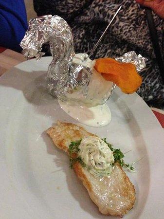 Hotel zum Hirschen: turkey breast meal