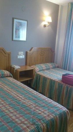 Hotel Rio Cabia: Habitación con dos camas individuales