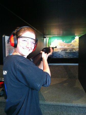 A Kiwi Farmstay : The range - air rifle shooting