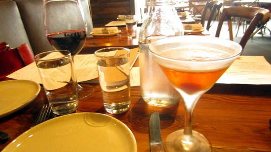 Drinks at the Laundry Restaurant