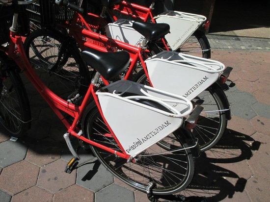 Swissotel Amsterdam: Rental Bikes outside Suissotel.  Book them early!