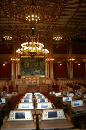 The Norwegian Parliament : inside the main chamber