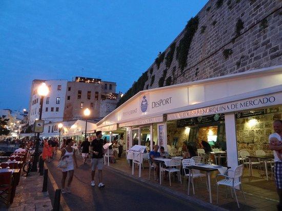 Restaurant Des Port: Vue de la terrasse