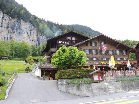 Hotel Restaurant Schützen : Super agradável hotel em Lauterbrunnen