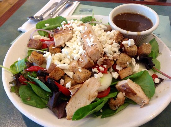Turning Point: grilled chicken feta salad