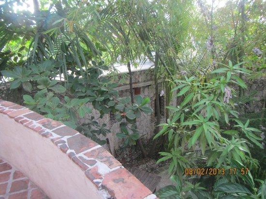 Guesthouse Las Piedras : Vista desde el balcon al interior del Hotel