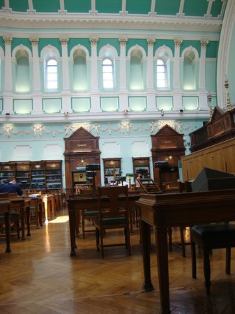 Reading room in National Library of Ireland