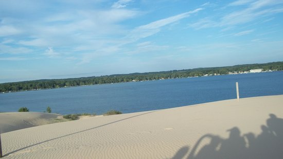 Mac Wood's Dune Rides : View from the dunes looking back at Silver Lake