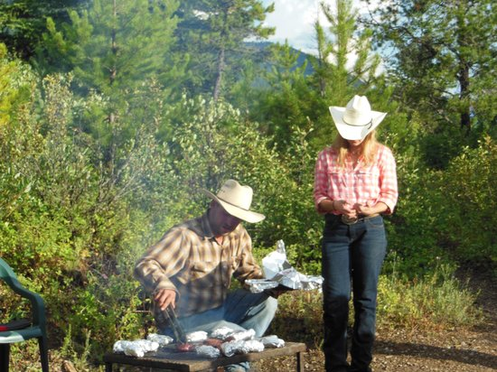 Swan Mountain Outfitters Day Tours : Wrangler made steaks - yum!