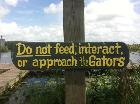 Everglades Holiday Park : Attention Danger