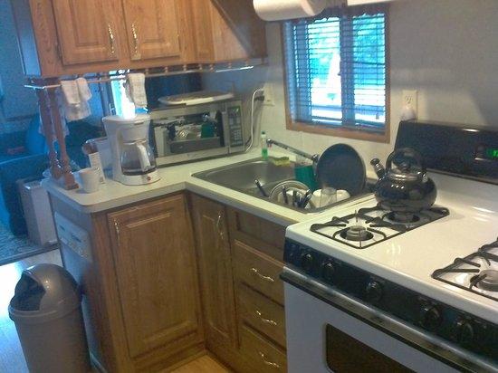 Cherry Hill Park Campground: Trailer Kitchen