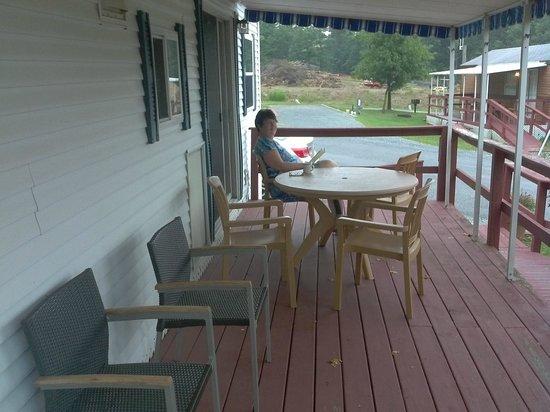 Cherry Hill Park Campground: Trailer front deck