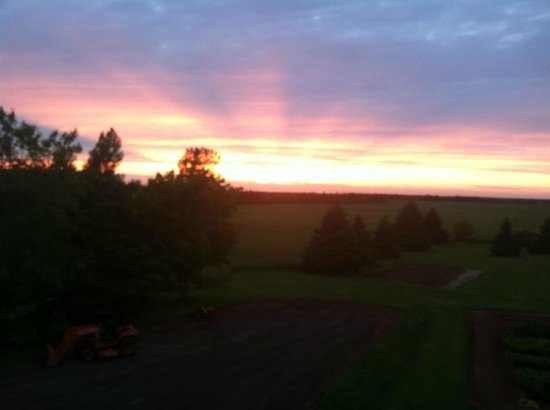 Prince County Bed & Breakfast: Sunset from balcony Night #1