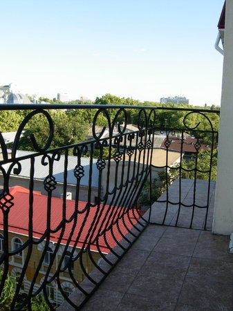 Boutique Hotel California: A view from a balcony and the balcony itself