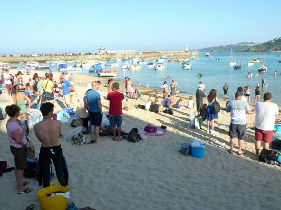 Rivendell Guest House : Beach at St Ives, there were swim race at that moment