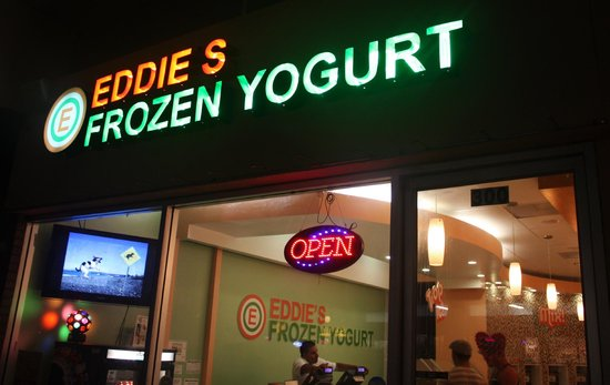Eddie's Frozen Yogurt: Weekdays open till Midnight, Fri & Sat till 1:30 a.m.
