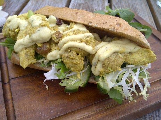 The Barley Mow: Coronation chicken sandwich