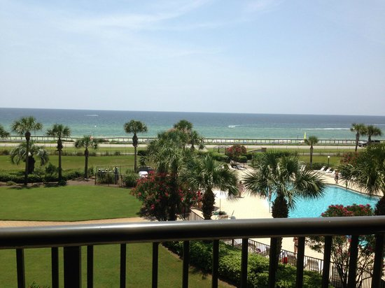Mediterranea: View of the beach from our condo D409