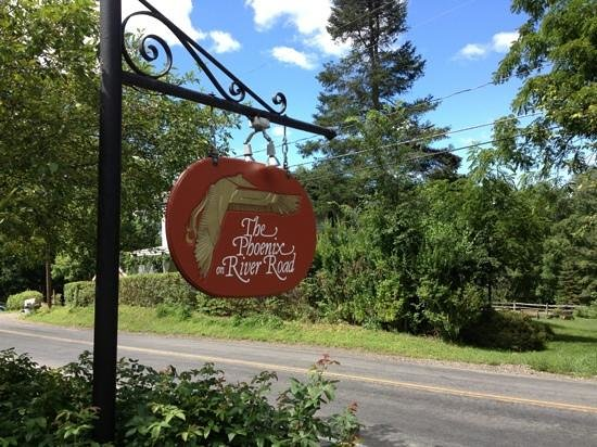 The Phoenix Inn on River Road: Look for this!
