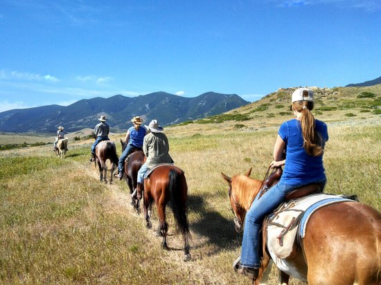 Eatons' Ranch: out riding