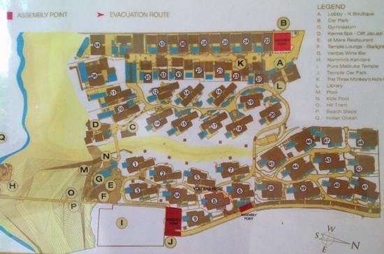 Karma Kandara: Resort map