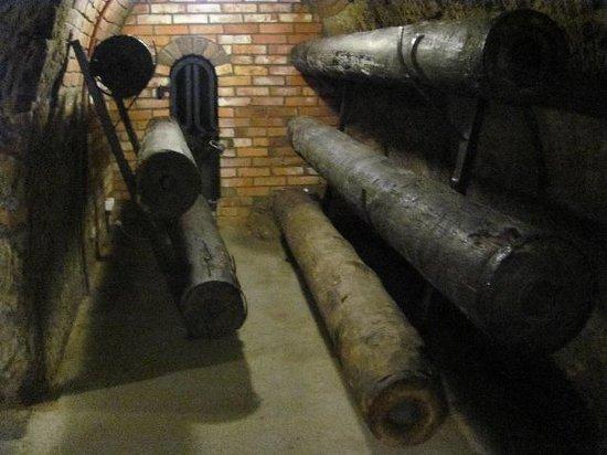 Plzen Historical Underground: wooden pipes