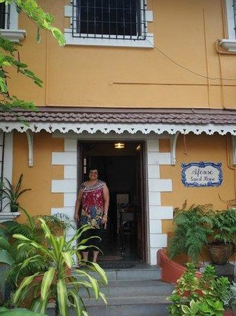 Afonso Guest House : External View with the extremely friendly owner