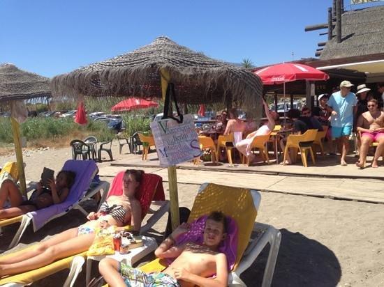 Crusoes beach bar: the beach bar