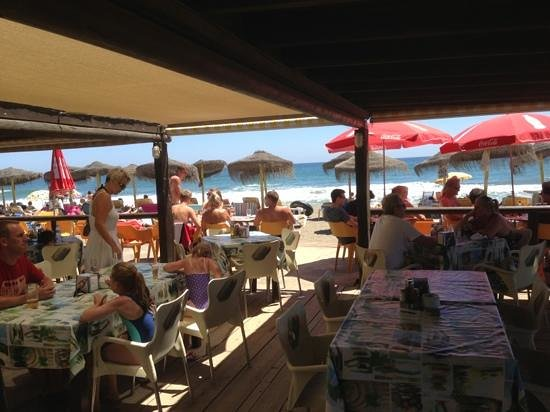 Crusoes beach bar: beach view