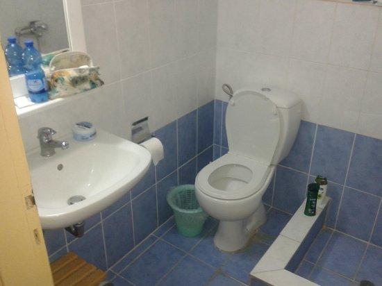 Hotel Olympia: bagno piccolo essenziale e pulito