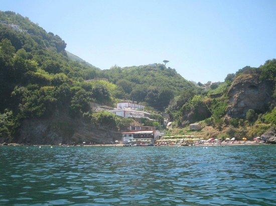 Da Maria: Aankomst bij het hotel met de boottaxi, adembenemend.