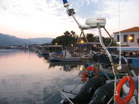 Skala Kallonis Beach: vue sur le port