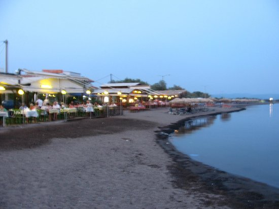 Skala Kallonis Beach: les restos en bord de plage sur Skala Kallonis