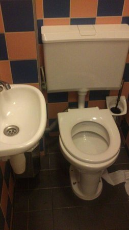 Amsterdam Hostel Centre: Hey, what a spacious toilet!
