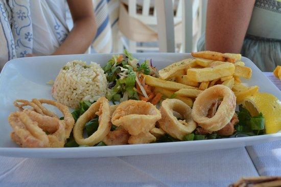 Syrtaki Restaurant: frittura di calamaro