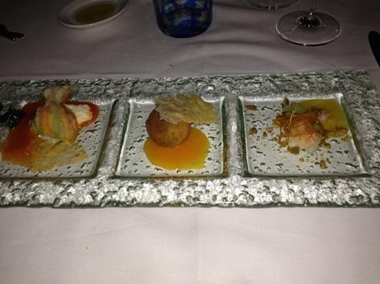 Mezzatorre Resort and Spa: preantipasto chandelier