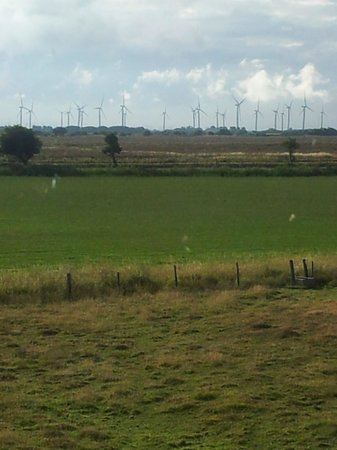 Cliff Farm: Windfarm from bedroom window
