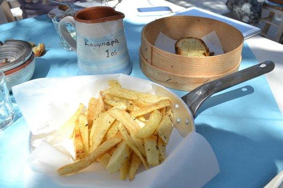 Koumpara Seafood Restaurant: patate fritte