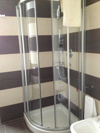 Hotel Principe di Torino: Pretty small but very good shower