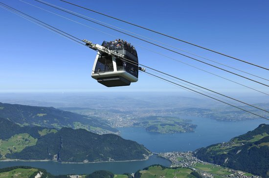CabriO - Stanserhorn-Bahn : CabriO Lucerne, Switzerland - the world's only cablecar with open sundeck.
