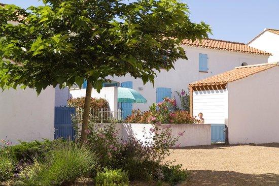 Madame Vacances Les Maisons Du Lac : un petit jardin ombragé