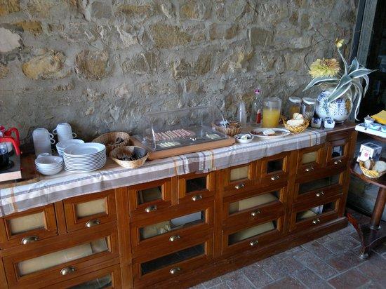 Podere le Vigne : Das Frühstücksbuffett - mehr gibt es nicht