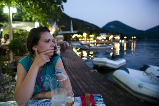 Elena: Sladjana, my girlfriend, with a distant look :-)