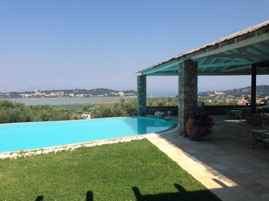 pool an terrace picture of luxury villa piedra corfu viros tripadvisor. Black Bedroom Furniture Sets. Home Design Ideas